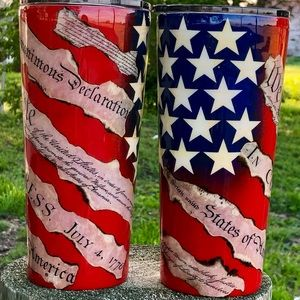 Red White and True Tumblers